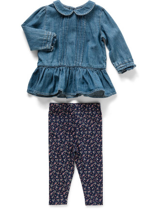 Peplum Top & Legging Set (0-24 Months)