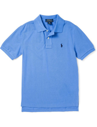 Solid Mesh Polo Shirt 2-7 years