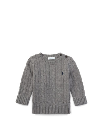 Cable-Knit Cotton Sweater (0-24 Months)