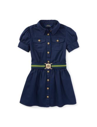 Chino Shirt Dress (8-14 Years)