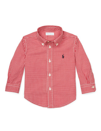 Long Sleeve Gingham Shirt (0-24 Months)