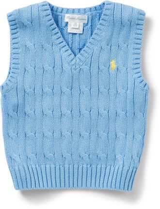 Cable-Knit Cotton Sweater Vest (0-24 Months)