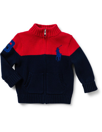 Cotton Full-Zip Sweater (0-24 Months)