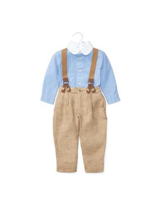 Shirt, Pant & Braces Set (0-24 Months)