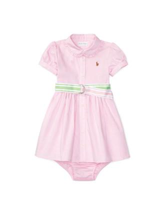 Oxford Dress & Bloomer (0-24 Months)
