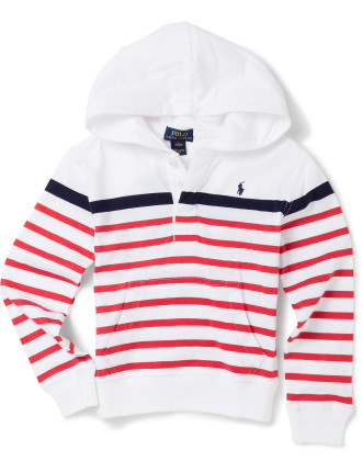 Striped Cotton Jersey Hoodie (2-7 Years)