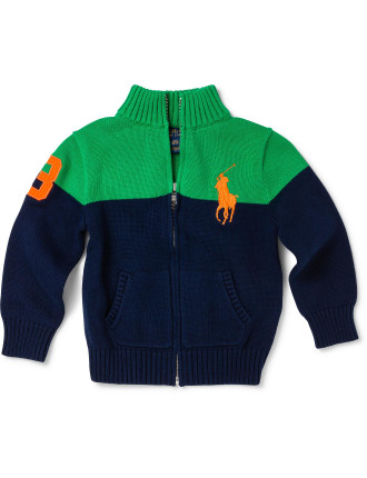 Cotton Full-Zip Sweater (2-7 Years)
