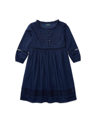 Eyelet Cotton Voile Dress (2-7 Years)