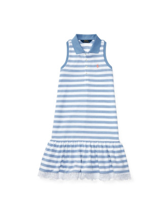 Striped Sleeveless Polo Dress (2-7 Years)
