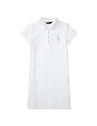 Big Pony Stretch Polo Dress (8-14 Years)