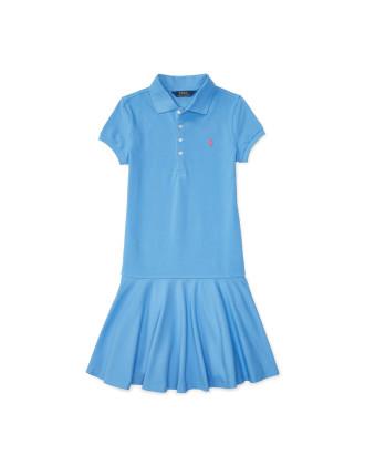 Drop-Waist Stretch Polo Dress (8-14 Years)