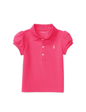 Puff-Sleeve Cotton Polo Shirt (0-24 Months)
