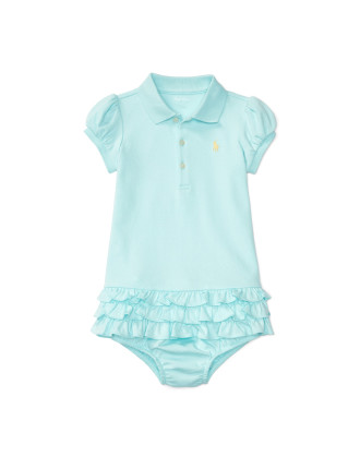 Ruffled Polo Dress & Bloomer (0-24 Months)