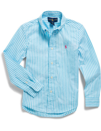 Striped Cotton Poplin Shirt (5-7 Years)