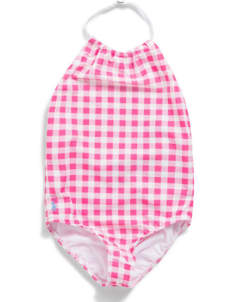 Gingham Halter Swimsuit (2-7 Years)