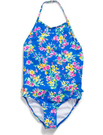 Floral One-Piece Swimsuit (2-7 Years)