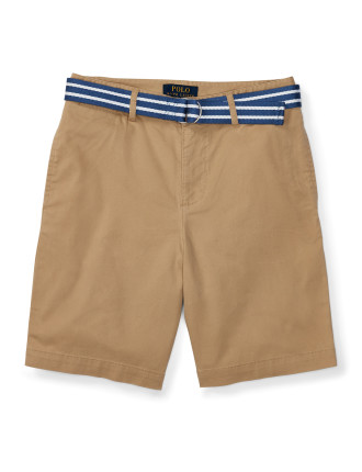Belted Stretch Cotton Short (8-14 Years)