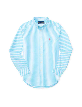 Poplin Ls Bd Shirt (8-14 Years)