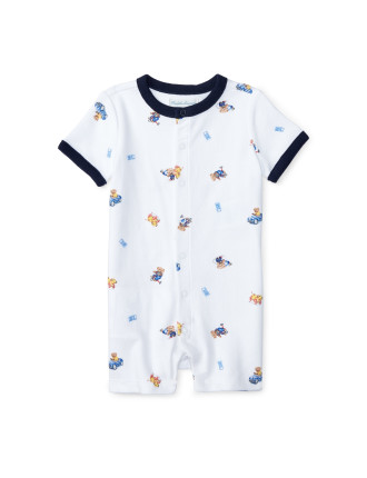 Polo Bear Cotton Shortall (0-24 Months)