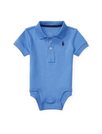 Cotton Interlock Polo Bodysuit (0-24 Months)