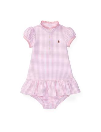 Stretch Mesh Gingham Dress (0-24 Months)