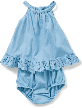Lightweight Cotton Romper (0-24 Months)