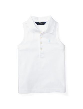 Stretch Sleeveless Polo Shirt (2-7 Years)