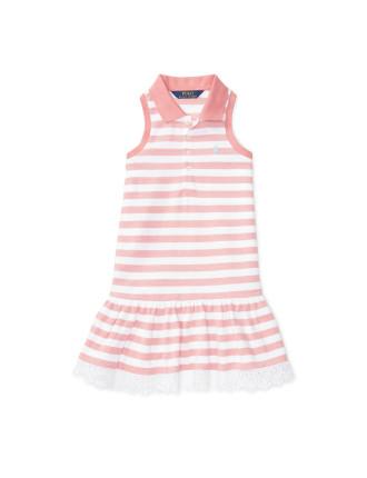 Striped Sleeveless Polo Dress (2-7 Years)