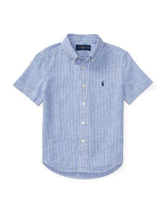 Striped Slub Linen-Blend Shirt (8-14 Years)