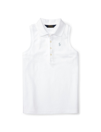 Stretch Sleeveless Polo Shirt (8-14 Years)