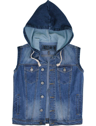 Sweat Denim Vest