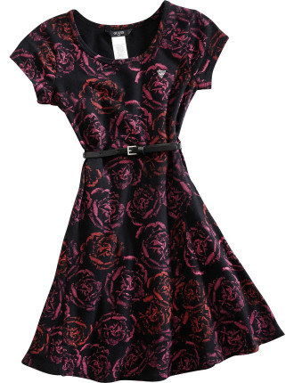 Mini Quilted Dress With Lace