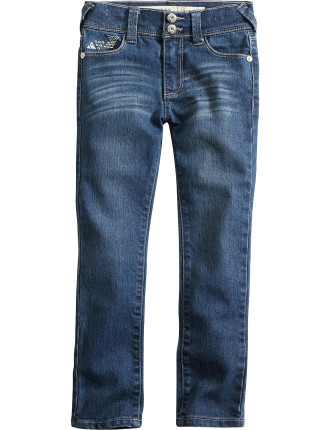 Skinny Mid Jean With Bling