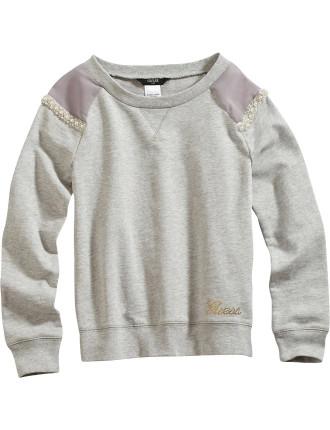 Sweatshirt With Embellishment
