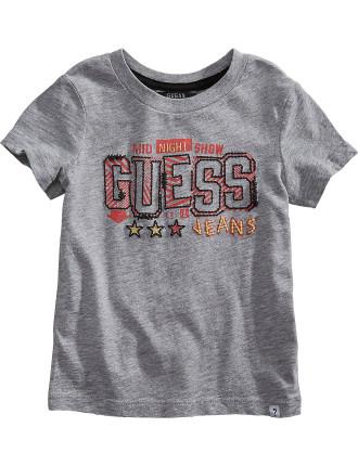 Ss Guess Logo Tee Shirt