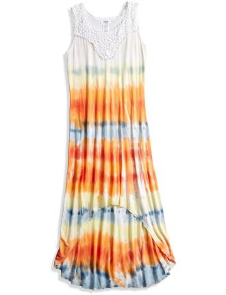 Tie Dye Dress W/Lace