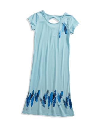Maxi Dress W/Screenprint/Foil