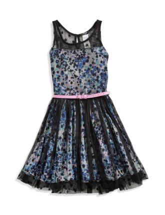 Layered Dress W/Belt