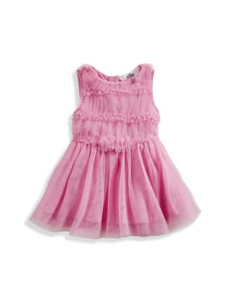 Tulle Ruffle Dress W/Panty