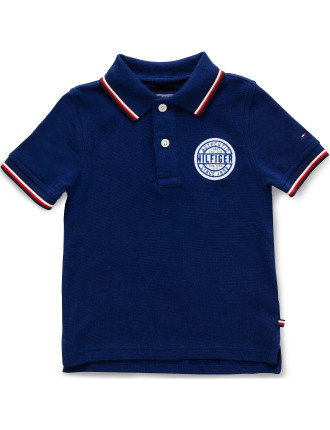 Ame S/S Badge Polo (Boys 3-7 Years)