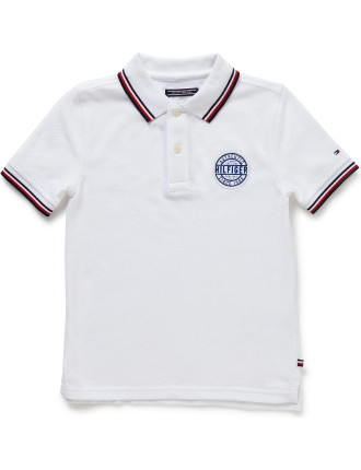 Ame S/S Badge Polo (Boys 8-14 Years)