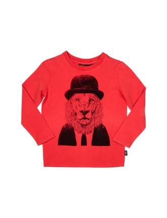 Sir Lion L/S Tee (Boys 3-8 Years)