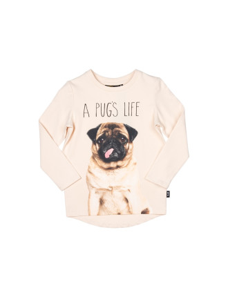 A Pugs Life L/S Tee (Boys 3-8 Years)