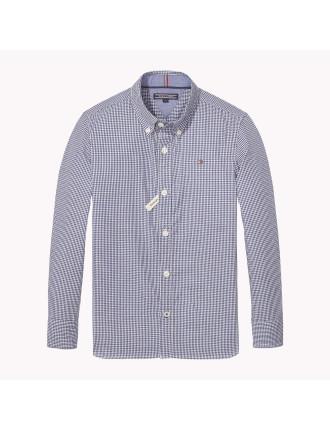 Ame Mini Gingham L/S Shirt (Boys 8-14 Years)