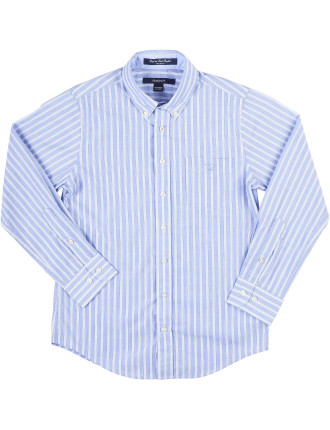 P.N. End On End Poplin Stripe Ls