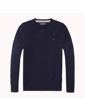 Basic L/S Cotton Sweater (Boys 8-14 Years)