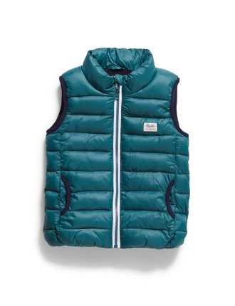 Ribbed Puffer Vest