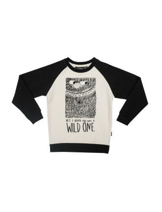 Wild One Ls Raglan Jumper