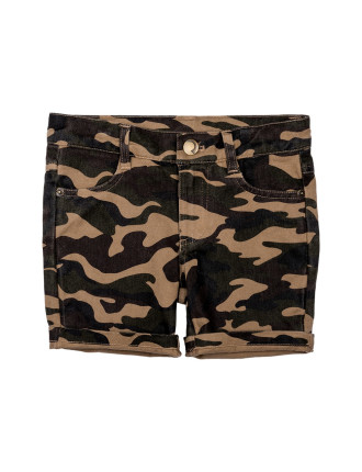 Camo Chino Shorts (Boys 3-8 Yrs)