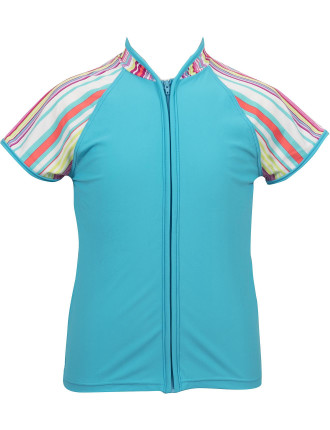 Miami Palms Zip Up Rashie